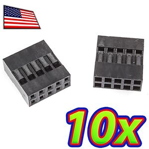 [10x] Dupont  Wire Jumper Pin Header Connector Housing - 2x5 - Male / Female