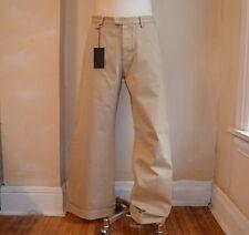 DSQUARED² AMAZING RUNWAY KHAKI BEIGE WIDE LEG CLASSIC DRESS PANTS 46 30 CASUAL