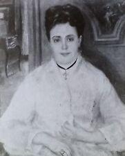 Renoir: Portrait of Madame Choquet,  Magic Lantern Glass Slide