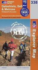 Galashiels, Selkirk & Melrose - OS Explorer Active Map 338(NEW 2007 folded sheet