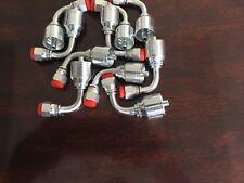 10 Pc13943 4 4 Pk Style Hydraulic Hose Fittings 14 Fjic 90 Degree