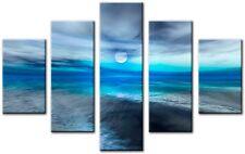5 Panel Total Size 115x80cm  ART ABSTRACT CANVAS ART  DIGITAL DONBLU Blue