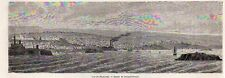 Plymouth overview vue generale england cornwall image 1865 old print