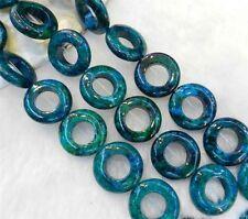 20mm, anneau,azurite,chrysocolle,de pierres précieuses,en vrac, des perles,20pcs