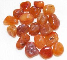 CARNELIAN AGATE Tumbled Stones Rock POWER STONE Healing Med Jewelry 4 oz BRAZIL