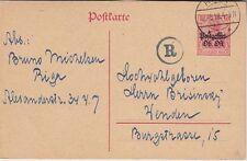 Geremany Ober Ost 10 Pf. Postal Stationery, used, Riga Latvia censor
