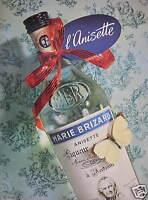 PUBLICITÉ DE PRESSE 1956 MARIE BRIZARD L'ANISETTE LIQUEUR