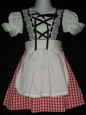 Little Red Riding Hood 4 pc Dress~Apron~Cape~Bloomers Toddlers Custom szs 1/2-4T