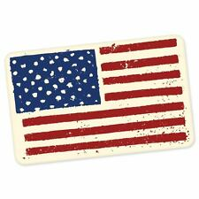 "USA Flag travel car bumper window suitcase sticker 5"" x 3"""