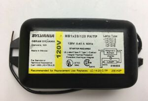 Sylvania Fluorescent Ballast 48201 MB1x20/120 PH/TP 120V 0.40 A 60 Hz 1 Lamp NEW