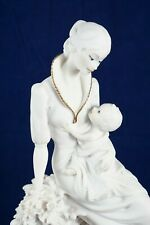 Giuseppe Armani Florence Mother and Baby Statue / Figurine Porcelain Bisque
