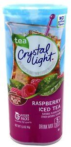 24 12-Quart Canisters Crystal Light Raspberry Iced Tea Drink Mix