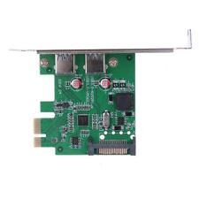 2-Port USB 3.0 Vers  PCI-E Expansion carte avec 15-pin SATA Câble d'alimentation