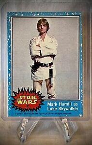 1977 STAR WARS - Mark Hamill as Luke Skywalker - Topps Card Series 1 (Blue) #57