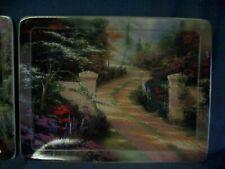 Lot of 4 decorative plates Thomas Kinkade Nature's Retreat - one with frame