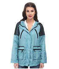 *NWT* $190 SAM EDELMAN Mesh Trimmed Hooded Teal Jacket Size MEDIUM - Polyester