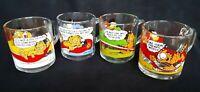 [NICE!] Set of 4 Vintage 1978 McDonald's Garfield Glass Coffee Mugs by Jim Davis
