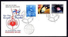 Dutch Antilles - 1960 Fight Cancer / Fish -  Mi. 110-12 clean FDC (E16)