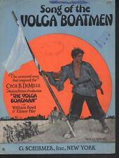 Song of the Volga Boatman 1926 Sheet Music