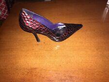 bcbgirls heels Marroon Aligator Size 7b
