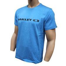 Oakley SQUARE O WORD T-Shirt Size M Medium Ocean Marle Blue Mens Regular Shirt