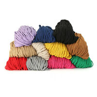 100yards Twisted Braided Colored Cotton Rope Macrame Cord 5mm String DIY
