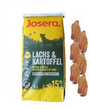 15kg Josera Nature Lachs & Kartoffel Adult Hundefutter + 6 x Kaninchenohren