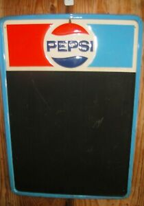 """Pepsi Cola Menu Board is Red White & Blue from 1971 by Stout Sign Co, """"PM 1032"""""""