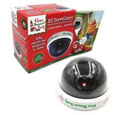 Elf Dummy Surveillance Camera Santa CCTV Christmas Decoration With Red LED