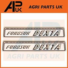 Fordson Dexta Tractor Hood Bonnet Decal Sticker Set Kit Transfer Emblem