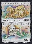 1994 CHRISTMAS ISLAND YEAR OF THE DOG VERTICAL PAIR FINE MINT MNH/MUH