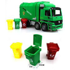 Children Education Toys New Garbage Truck Side Loading Lifted With 3 Rubbish Bin