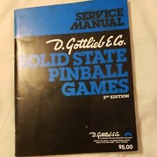 Gottlieb Solid State Pinball Games Manual 2nd Edition 1978