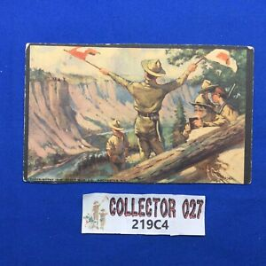Boy Scout Vintage Scout Gum Co. Post Card Signaling w/ Stamp C1914