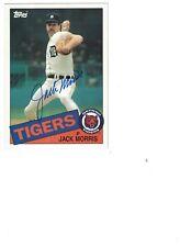 Jack Morris AUTOGRAPH 1985 TOPPS JUMBO BASEBALL CARD SIGNED DETROIT TIGERS 5X7