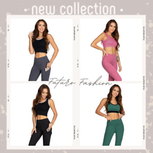 High Waisted Gym Leggings with Pocket Tummy Control Shaping Push-Up Pants BFL1
