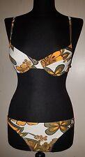 Bikini Zwei-Teiler Badeanzug Retro Style mit Blumenmuster Größe 32 Cup B⭐Neu