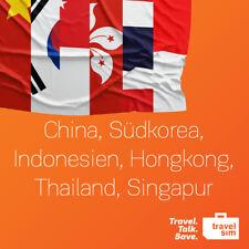 TravelSim Daten Prepaid Sim-Karte für Asien mit 3GB/für 30Tage (LTE,Ohne Zenzur)