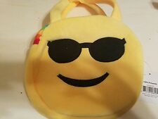 Emoji Cool Shades Sunglasses Rainbow Yellow Expression Bag Purse New with tags