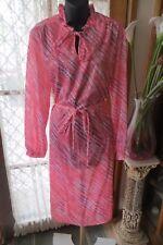 VINTAGE   ~ TARGET ~ Frill Neck  DRESS/BELT * Size 16  *