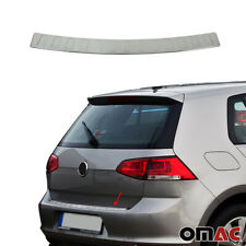 Fits VW Golf Mk7 2015-2020 Brushed Chrome Rear Bumper Trunk Sill Cover S.Steel