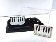 PIANO KEYS PIANIST MUSIC MUSICIAN KEYBOARD MENS CUFFLINKS CUFF LINKS GIFT