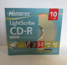 Memorex LightScribe CD-R 10 Pack 52X 700 MB 80 Minute Recordable for CD Writers
