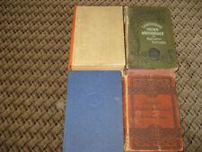 4 alte Wörterbücher: Französisch - Englisch - Deutsch