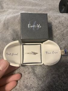 Zales Ever Us 1/2 ct Ring 14 kt White Gold size 5