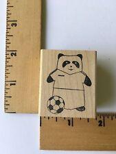 Memory Box Rubber Stamps - Soccer Panda - C1221 - NEW