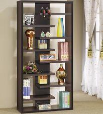 Coaster Home Furnishings Casual Interjecting Shelf Bookcase, Cappuccino