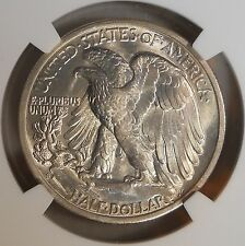 1942-S Certified by NGC MS65 Walking Liberty Half Dollar Silver 50 Cent Coin 154