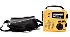 GRUNDIG FR-200 Recycle Power Emergency Radio and Light Orange Black in Case E909