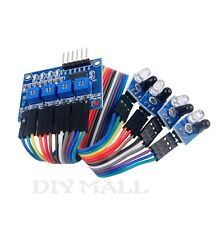 4-way 4 Channel IR Infrared Detection Tracing Sensor Tracking Module Smart Car